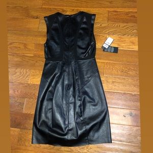 Black Leather Guess Dress